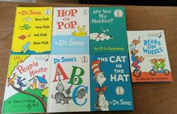 New Vintage 1960and039s 1st Edition Books 7 Total Cat In Hat Fish Bear Abc
