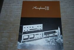 Accuphase P-300 Amplifier C-200 Preamplifier T-100 Tuner Original Catalogue