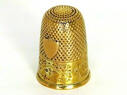 18ct 18k 750 Antique Solid Gold French Thimble In A Case - Circa 1820-1839