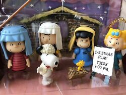 Peanuts Charlie Brown Christmas Nativity Pageant Play Set 0f 6 Mini Figures 2009