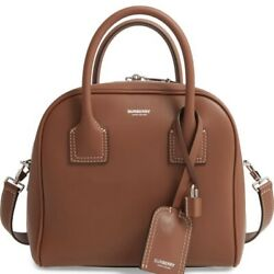 100% AUTHENTIC NEW BURBERRY SMALL CUBE BROWN SATCHEL BAG $999.00