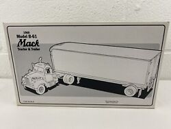 First Gear 1960 Mack Tractor And Trailer Model B-61 134 10-1350 Pepsi Cola Truck
