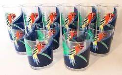 12 H J Stotter Acrylic Plastic 6 Tumblers 6 Old Fashioned Parrot Bird Cups
