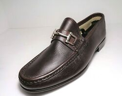 Mercanti Fiorentini 855 Maroon Leather Loafer Moccasin Mens Shoes Us Size 8m