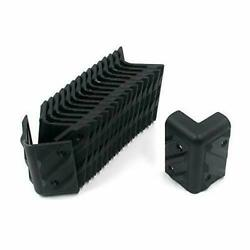 16pcs Right Angle Corner Protector Black With Mounting Screws For Cabinet Guitar
