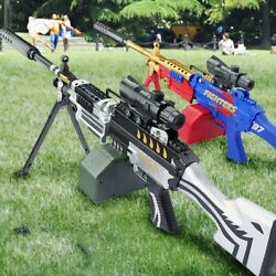M249 Electric Action Weapon Gel Blaster Toy Gun Water Crystal Kids + Bullets New