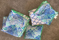 Lilly Pulitzer X Pottery Barn Pb Oh Shello Reversible Queen Quilt Pillow Shams
