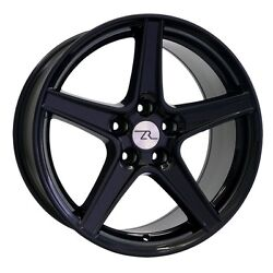 18 Gloss Black Mustang Saleen Style Staggered Wheels 18x9 18x10 5x114.3 94-04