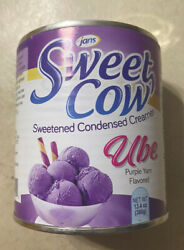 10 Cans Jans Sweet Cow - Ube Sweetened Condensed Creamer - 13.40 Oz Purple Yam