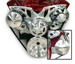 March Performance Aluminum Sbc Serpentine Style Track Pulley Kit P/n 21155