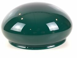 Antique Green Cased Glass Mushroom Dome Table Lamp Shade Emeralite 10 Fitter