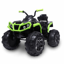 45w 12v Electric Ride On Atv Car Toy Double Drive W/led Light Mp3 Player Radio