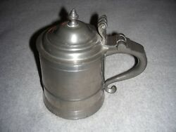 Woodbury Pewterers Pewter Lidded Beer Stein Free Shipping