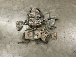 Usgi Molle Ii Rifleman Set Load Bearing Vest W/ 7 Pouches And Backpack