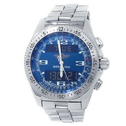 Breitling B-1 Stainless Steel Quartz Analog-digital Blue Menand039s Watch A68362