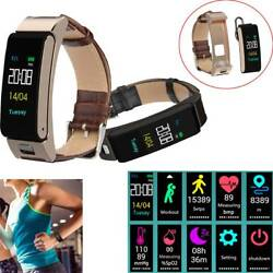 2-in-1 Bluetooth Smart Watch Headset Fitness Tracker Phone Mate For Ios Android