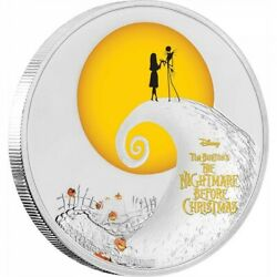 2017 Niue Nightmare Before Christmas 1oz Silver Proof 2 Coin Rare