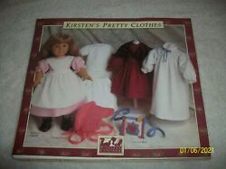 Vtg 1990 The American Girls Doll Dress Patterns Kirstenand039s Pretty Clothes