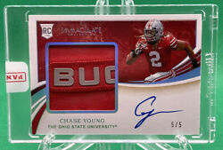 2020 Immaculate Collegiate Chase Young Rpa Rc Ohio Nameplate Patch Auto 🏦 5/5