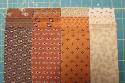 36 Cheddar And Chocolate Jelly Roll 2.5x44 Strips Quilt Fabric By Marcus