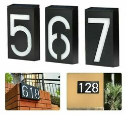Solar House Plaque Number Light Home Adress Lamp Doorplate For Yard Decoration
