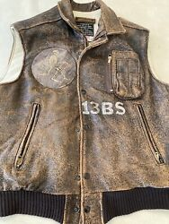 Avirex B9 Vest Flight Jacket A2 G1 Grim Reapers Bomber Blood Chit Squadron Patch