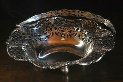 Antique 1905 Made Of Sterling Silver Watermark Nice Big Fruit Compote L-30