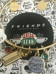 Alex And Ani Friends, Couch And Pivot Shiny Gold Bangle New W/tag Card And Box