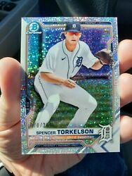🔥spencer Torkelson 2021 Bowman Chrome Speckle Refractor 178/299🔥 - Tigers