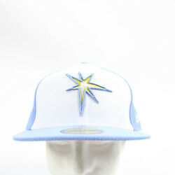 Tampa Bay Rays New Era Fitted Hat Unisex Blue/white New With Tags