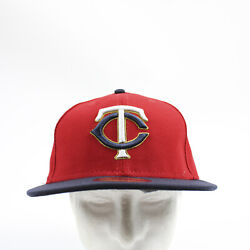 Minnesota Twins New Era Fitted Hat Unisex Red/navy New With Tags