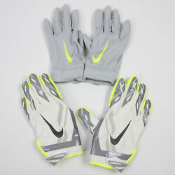 Houston Texans Nike Gloves - Receiver Menand039s White/gray New With Tags L