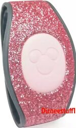 Disney World Pink Rose Gold Sparkle Glitter Magicband 2 Magic Band Linkable New