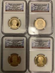 2013 S Ngc Pf70 Presidential Dollar Proof 4 Coin Complete Set