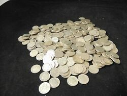 Lot Of 400 Silver Dimes Mixed Dates Good Shape Roosevelt 90 Silver All Pre-1964