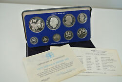 1979 Jamaica Proof Set - 9 Coin Sealed Proof With Box - Scarce