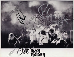 Iron Maiden 8x10 Fully Signed Paul Diand039anno Steve Harris Dave Murray +1 Autograph