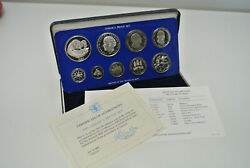 1982 Jamaica Proof Set - 9 Coin Sealed Proof With Box - Rare