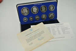 1983 Jamaica Proof Set - 9 Coin Sealed Proof With Box - Rare