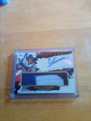 2021 Topps Inception 3 Color Game Sock Relic Auto Nico Hoerner Cubs 25/25