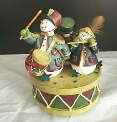 Vintage Lang And Wise Snowman Music Box Yankee Doodle