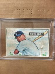 1951 Bowman Mickey Mantle Rookie Card 253