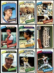 1980 Topps Baseball Almost Complete Set 6.5 - Ex/mt+