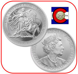 2021 St. Helena Una And The Lion 1 Oz Silver £1 Bu Coin - Tube/roll Of 18 Coins