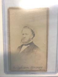Rare 1800's Signed Brigham Young Photo Mormon Lds Jsa Authenticated