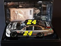 Jeff Gordon 2011 24 Aarp/chevrolet 100 Anniversay Autographed White Gold 1of48