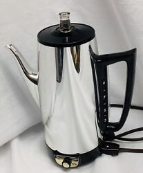Vintage Ge General Electric 9 Cup Coffee Percolator Pot Maker Immersible A8p15