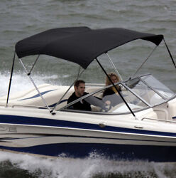 Shademate 80183 Black Bimini Top Poly Fabric/bootno Frame3bow,5'l,32h,85-90w