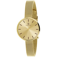 James And Son Womenand039s 30mm Stainless Steel Gold Band Quartz Watch - Jas10044-203