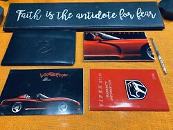 1994 Dodge Viper Rt10 Owners Manual Viper Case + Removal Center Cap Tool Rt 10